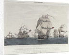 British convoy of 63 ships and all but 8 ships captured by Spanish and French under Cordova. St Vincent, 9th August 1780 by Vallejo