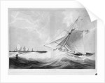 HM cutter 'Active' (1779) communicating with Admiral Duncan before the Battle of Camperdown, 11 October 1797 by Edward Duncan