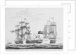 Capture of French frigate 'La Junon', 10 February 1817 by Pelley