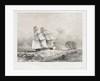 HM Brig 'Acorn', 16 guns, in chase of the piratical slaver 'Gabriel' by Nicolas Matthew Condy