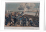 Dolby's Sketches in the Baltic. A sketch on the quarter deck of HMS 'Bulldog', Bomarsund, 15 August 1854 by Edwin Thomas Dolby