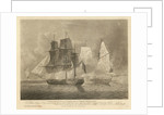 Windsor Castle Packet, and La Genie Privateer... To William Rogers Esq commanding the Windsor Castle... engaging and capturing a French Privateer Schooner of superior force on 1st October 1807... by Robert Dodd