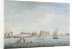 'No 4. Thetis Feby 1795 - Repairing at Gosport in Virginia by George Tobin