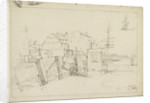Sketch of Greenwich Pier by Thomas Bush Hardy