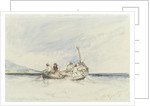 'Bateau pecheur', fishing boats off Naples by William Callow