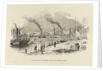 Steam boats at Adelaide Wharf, off London Bridge, including 'Kent' and 'Magnet' by unknown