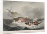 Wreck of the Forfarshire steamer on one of the rocks of the Ferne Islands as she appeared at day-break on the morning of the 7 September 1838 by John Wilson Carmichael