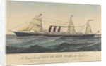 The Magnificent Steamship 'City of New York' of the Inman Line by Currier & Ives