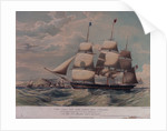 First class New York packet ship England, Captain B. L. Waite, inward-bound off Point Lynas, making signal for a Pilot by Samuel Walters