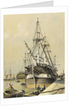 True Briton' tied up in East India Docks by Edmund Patten