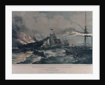 Destruction of the American emigrant ship 'Ocean Monarch' on the 24 August 1848 by A. Maclure