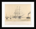 The 'Kent' (1853), 1000 tons, being towed past Gravesend by Thomas Goldsworth Dutton