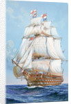 HMS 'Victory' under full sail by unknown