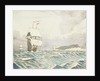 Sailing vessels approaching with island to port (2) by John Everett
