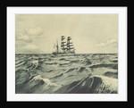 Starboard side of sailing vessel at sea (1) by Herbert Barnard John Everett