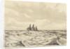 Three masted sailing vessel at sea (2) by John Everett