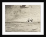 Four masted sailing vessel in a calm sea (3) by John Everett