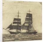 Silhouette of a two masted sailing vessel (3) by John Everett