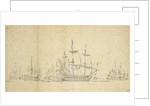Large Dutch ships before a light breeze, ?August 1665 by Willem van de Velde the Elder