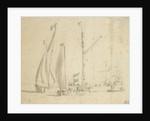 A boeier yacht, smalschip and galjoot by Willem van de Velde the Elder