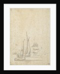 A wijdschip, boeier yacht and Dutch ships in a light breeze by Willem van de Velde the Elder