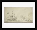 Dutch rear squadron at anchor by Willem van de Velde the Elder