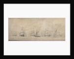 The Dutch fleet tacking by Willem van de Velde the Elder