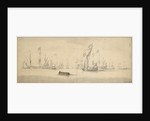 A States yacht and Dutch ships before a light breeze by Willem Van de Velde the Younger
