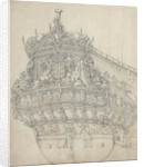 The stern of the 'Gouda' by Willem van de Velde the Elder