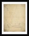 A hoy becalmed by Willem Van de Velde the Younger