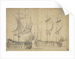 An English third-rate and fourth-rate under easy sail by Willem van de Velde the Elder