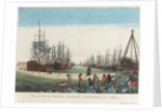 View of the dockyard in Kingston upon Hull by Balth Frederic Leizel