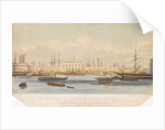 The Blackwall railway terminus & Brunswick pier with the Brunswick propeller & other steam vessels by W. Ranwell