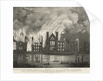 The destruction by fire of the Houses of Parliament on Thursday night, 16 October 1834 by unknown