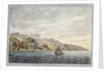 A southern view of Bastia on Corsica from on board HMS 'Victory' during the May 1794 siege by Ralph Willett Miller