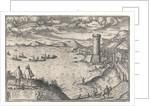Mola near Gaeta, circa 1580 by Georgius Hoefnagle