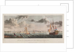 View of the town of Paramaribo, with the road & shipping from the opposite shore by J. Johnson