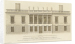 The Elevation of the Queens House to the Park at Greenwich Invented by Inigo Jones 1639 by Colen Campbell