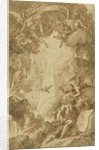Drawing for the engraving by C. du Bosc in the bible of the Royal Naval College Chapel by James Thornhill