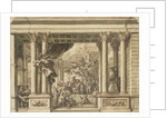 The Painted Hall, Greenwich Hospital: design for the west wall by James Thornhill