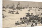 Japanese troops landing in Korea by Charles M. Padday