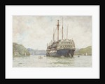 The 'Implacable' at Falmouth by Henry Scott Tuke