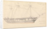 Annotated drawing of 'Larkin's East Indiaman, April 27th (Thursday) 1843' by John Christian Schetky