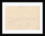 View of St. Aubins Fort Jersey showing Fort Elizabeth, 1808 by John Christian Schetky