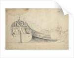 Portrait of a Dutch bezan yacht by Willem Van de Velde the Younger