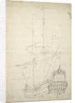 Portrait of the 'Ijlst', built 1653, 30 guns, last mentioned 1666 by Willem Van de Velde the Younger