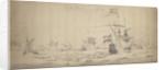 A Dutch Fleet lying-to in a breeze: a council-of-war by Willem van de Velde the Elder