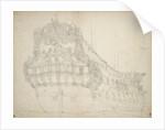 Portrait of the 'Gideon', a 62-gun ship built in 1664 and last recorded in 1689 by Willem van de Velde the Elder