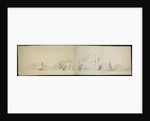 Dutch fleet at sea panorama (unfinished) by Willem van de Velde the Elder