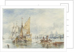 A hay barge off Greenwich by George Chambers Sr
